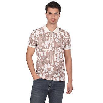 instrument mønstret polo nakke menns t-skjorte