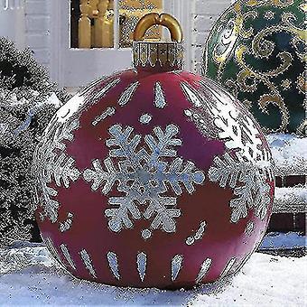Giant Christmas Pvc puhallettava koristeltu pallo, joulu puhallettava ulkokoristeet