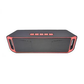 trådløs Bluetooth høyttaler kolonne stereo subwoofer usb høyttalere innebygd mikrofon bass mp3 spiller lydboks rød