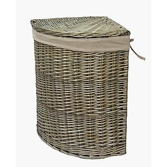 Antique Wash Corner Laundry Basket Set of 2