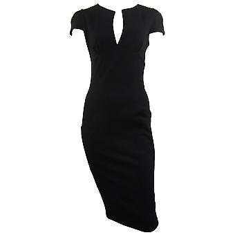 Womens Formal Split Neck Dress