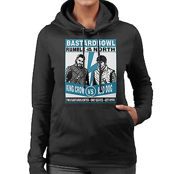 Rumble In The North King Crow Vs Mad Dog Game Of Thrones Women's Hooded Sweatshirt