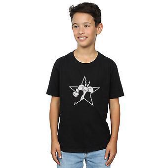 Looney Tunes garçons Sylvester Mono Star T-Shirt
