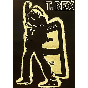T-Rex электрические воин Плакат Плакат Печать