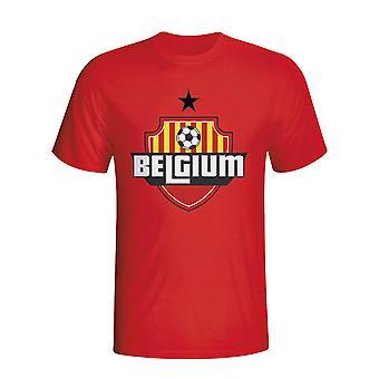Belgien Land Logo T-shirt (rot) - Kids