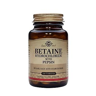 Solgar Betaine Hydrochloride with Pepsin Tablets, 100