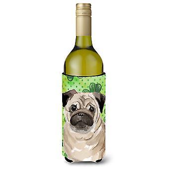 Fawn Pug St. Patrick garrafa de vinho Beverge isolador Hugger