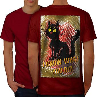Spy Cat Men RedT-shirt Back | Wellcoda