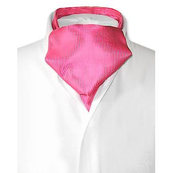 Antonio Ricci ASCOT Cravat Solid geribbeld patroon mannen nek Tie
