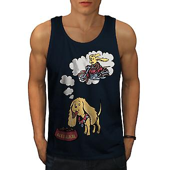 Animated Killer Dog Men NavyTank Top | Wellcoda
