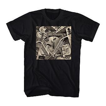 M.C. Escher Relativity Men's Black T-shirt