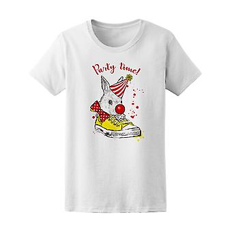 Funny Clown Hare Party Time Tee Women's -Image by Shutterstock