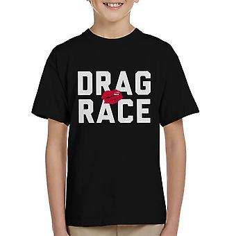 Vedä Race teksti Lasten t-paita