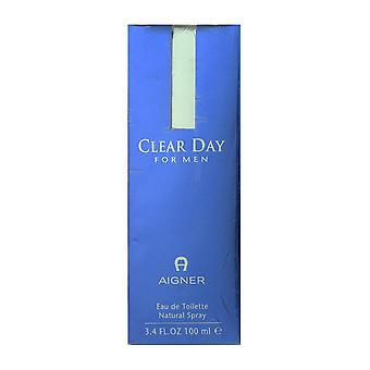 Etienne Aigner Clear dag voor mannen Eau De Toilette Spray 3.4 oz/100 ml In vak