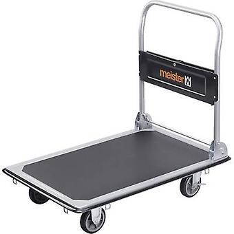 Meister Werkzeuge 8985540 Flatbed trolley folding, + compartment Steel Load capacity (max.): 300 kg