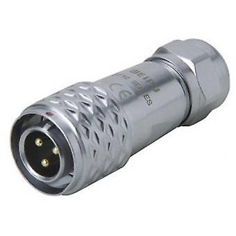 Weipu SF1210/P9 II Bullet connector stekker, rechte serie (aansluitingen): SF12 totaal aantal pins: 9 1 PC('s)
