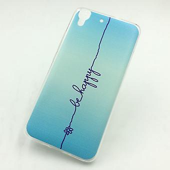 Eloisa hylsy Huawei G Pelaa Mini olla onnellinen sininen kattaa + 1 x säiliö lasi