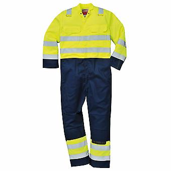 Portwest - Hi-Vis Anti-Static Bizflame Pro Flame Resist Workwear Coverall