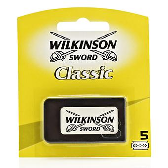 Wilkinson Sword Classic Double Edge (DE) Razorblades - Pack of 5s