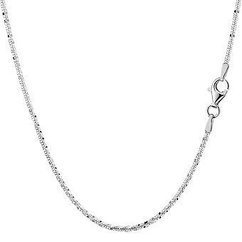Rodowane srebro pozłacane skrzyć łańcuch naszyjnik, 2,2 mm