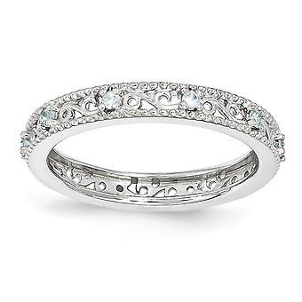 3mm 925 סטרלינג כסף מלוטש הגדר מצופה רודיום ביטויים הערמה טבעת מתנות תכשיטי הנשים