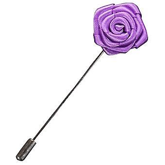 Bassin en bruin Rose Flower revers Pin - Lila
