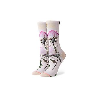 Stance Pressed Not Stressed Crew Socks in Off White