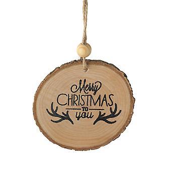 يرسل السماء خشبية لحاء شجرة عيد الميلاد الديكور
