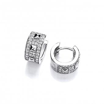 Cavendish French Pyramids and Hoops Silver Earrings