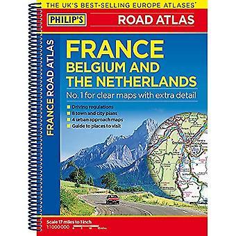 Philip's Road Atlas Francji, Belgii i Holandii: spirala A5