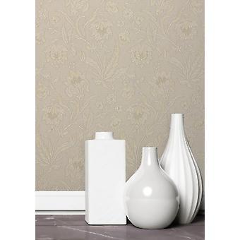 Elegant Milano 5 Flower Light Beige Wallpaper Wall Decoration 10.05m x 0.53m
