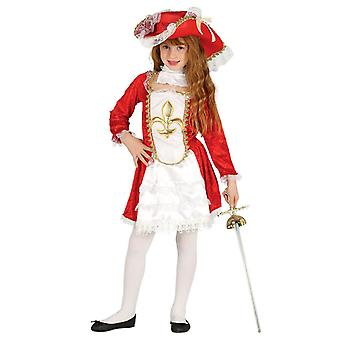 Flickor musketör Fancy Dress kostym