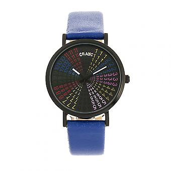 Crayo Fortune Unisex Watch - Black/Navy