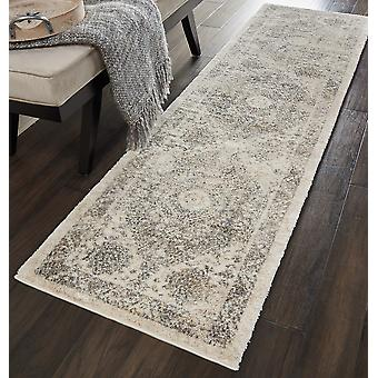 Fusion Nourison FSS11 Cream Grey  Runner Rugs Traditional Rugs