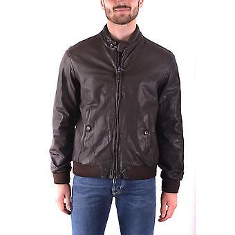 Jacob Cohen Ezbc054038 Herren's braun Leder Outerwear Jacke