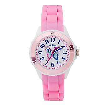 s.Oliver silicone band watch kids girl SO-3760-PQ