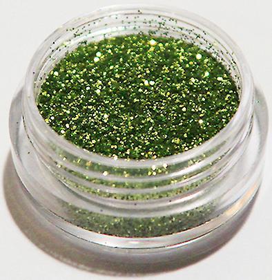 1x finkornet glitter grønn