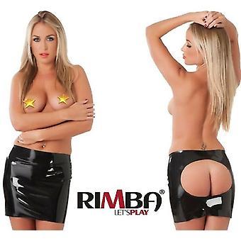 Rubber Secrets' Shiny Latex Open Mini Skirt (R9011)