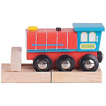 Bigjigs Rail Wooden Choo Choo Sound Train Engine Locomotive Carriage
