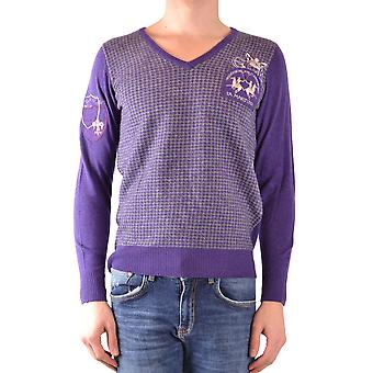 La Martina Ezbc259013 Men's Purple Wool Sweater
