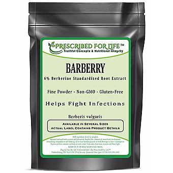 Barberry - 6% Berberine - Natural Root Powder Extract (Berberis vulgaris)