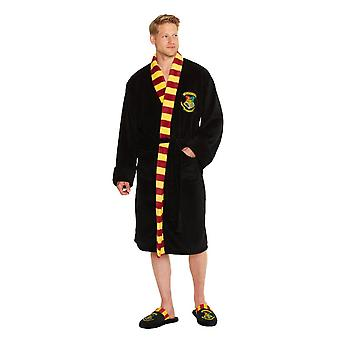 Men's Harry Potter Hogwarts Crest Adult Dressing Gown  - ONE SIZE