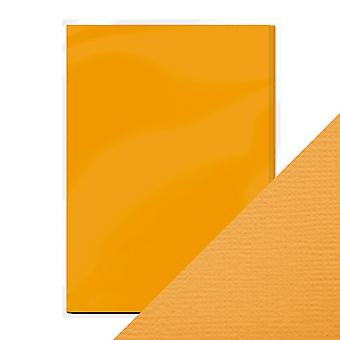 Craft Perfect A4 Weave Textured Card Amber Yellow Tonic Studios