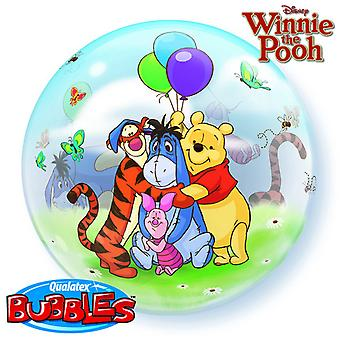 Qualatex 22 Inch Winnie The Pooh Single Bubble Balloon
