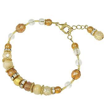 Eternal Collection Fiorella Topaz And Gold Venetian Murano Glass Bracelet