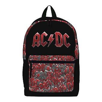 AC/DC Backpack Bag Classic Band Logo all over print new Official Black