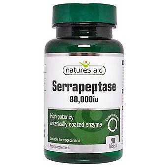 Nature's Aid Serrapeptase 80;000iu (Entero-Revestido) Tablets 90 (130730)