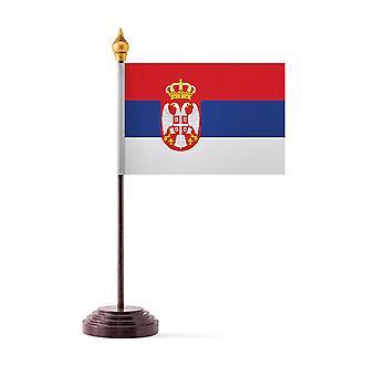 Serbia taulukon lippu kiinni ja pohja