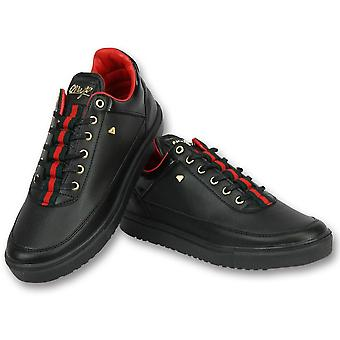Shoes Sneakers - Line Black Green Red - Black