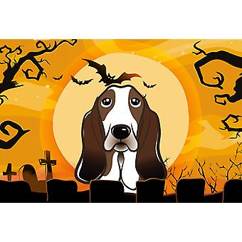 Carolines Treasures  BB1801PLMT Halloween Basset Hound Fabric Placemat
